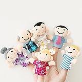 6 Pcs Finger Puppet Set Soft Toy children's Learn Play Story 6ren