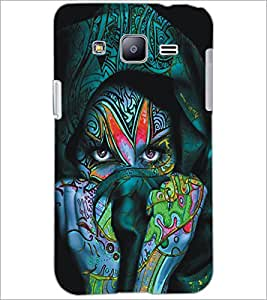 PrintDhaba Eyes D-5449 Back Case Cover for SAMSUNG GALAXY J2 (Multi-Coloured)