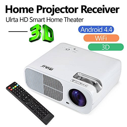 Upgraded wireless 200 portable led projector built in for Best small hd projector