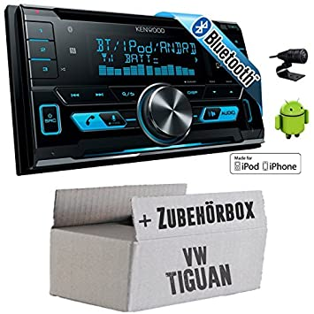 VW Tiguan - Kenwood DPX-X5000BT - 2DIN Bluetooth USB Autoradio - Einbauset