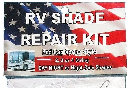 DELUXE RV Motorhome CAMPER Day Night COMPLETE SHADE REPAIR KIT with End Cap Spring from Shade Doctor of Maine (Rv Window Day Night Blinds compare prices)