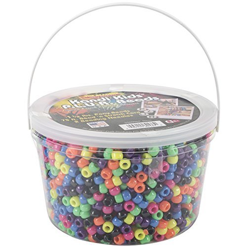 The Beadery Ultra Kandi Rave Bead Neon Bucket, Multicolor by The Beadery