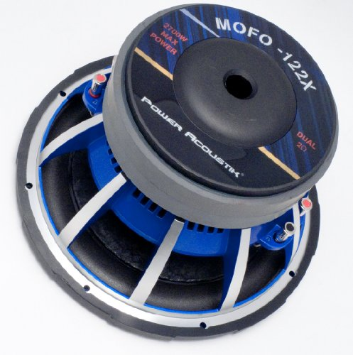 Power Acoustik MOFO-122X 12-Inch Competition Subwoofer Dual 2-Ohm Voice Coils