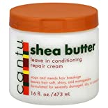 Cantu Leave In Conditioning Repair Cream, Shea Butter, 16 fl oz (473 ml)