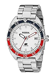 Fossil End-of-season Breaker Analog White Dial Mens Watch - FS5049
