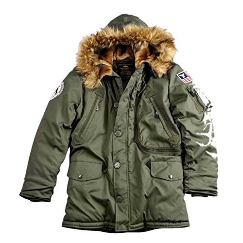 Alpha Industries - Polar Kapuzenparka dark green