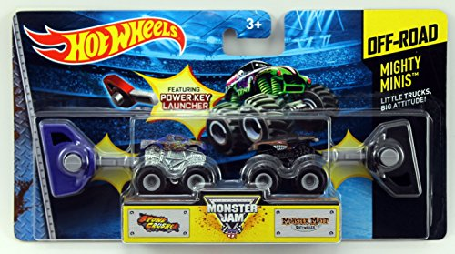 Hot Wheels Monster Jam Mighty Minis Off-Road - Stone Crusher & Monster Mutt Rottweiler - 1