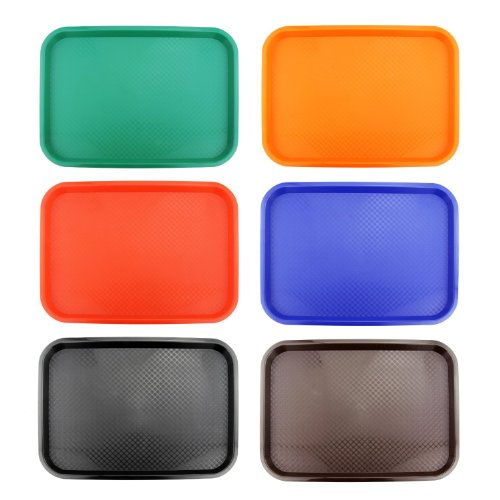 New Star 28010 Fast Food Tray, 12 by 16-Inch, Assorted 6 Colors in Each (Food Trays compare prices)