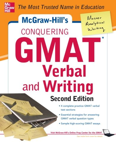 McGraw-Hills Conquering GMAT Verbal and Writing, 2nd Edition, by Doug Pierce