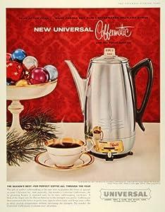 1959 Ad Universal Coffeematic Flavor Selector Landers Frary & Clark Coffee Pot - Original Print Ad