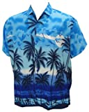 La Leela Men's Hawaiian Beach Printed Aloha Shirt XL