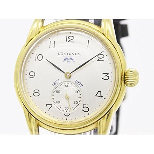[ロンジン]LONGINESロンジン 125周年 ゴールドプレート レザー 手巻き メンズ 時計-(BF090671)[中古]