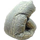 国産 羽毛 布団 セミダブル 6003柄ブルー マザーダウン1.4kg 7年保証 ダウンパワー400dp以上/かさ高165mm以上 ロイヤルゴールドラベル 製品保証書付