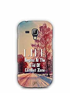 YuBingo Life Begins at the end of Comfort Zone Designer Mobile Case Back Cover for Samsung Galaxy S Duos