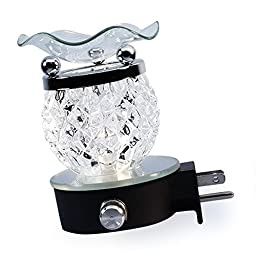Electric Plug-In Premium Glass Fragrance Oil Burner {Clear Crystal Shaped}