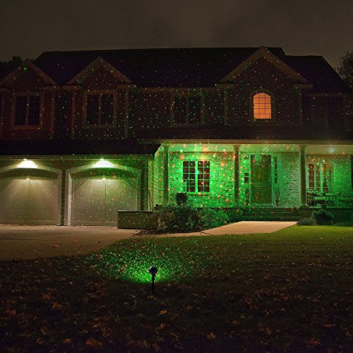 1byone Aluminum Alloy Outdoor Laser Christmas Light