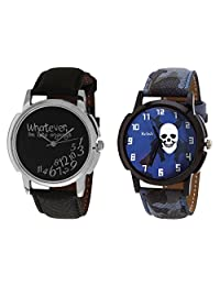 Relish Black Analog Round Casual Wear Watches For Men - B019T7L7F6