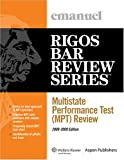 img - for Multistate Perfomance Test (MPT) Review, 2008-2009 (Rigos Bar Review Series) book / textbook / text book
