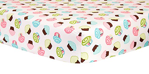 Trend Lab Crib Sheet, Cupcake Scatter
