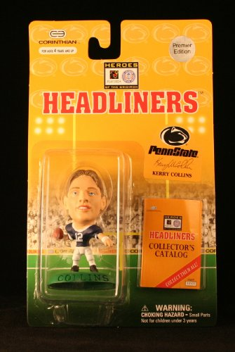 KERRY COLLINS / PENN STATE UNIVERSITY NITTANY LIONS * 3 INCH * 1996 NFL Heroes of the Gridiron * Premier Edition * Headliners Football Collector Figure - 1