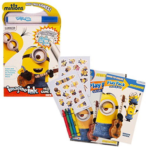 Despicable Me Minions Magic Ink Book And Play Set Imagine Mess Free