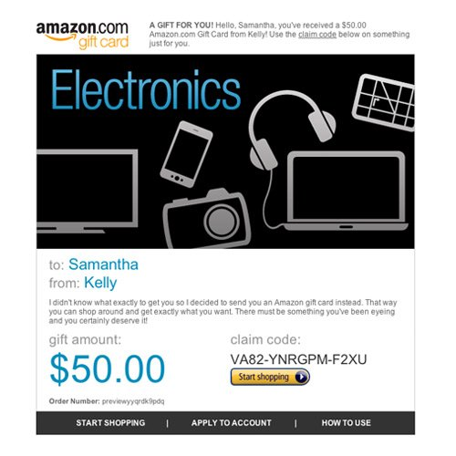 Amazon Gift Card - E-mail - Amazon Electronics | Amrusha lifestyle