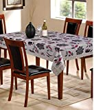 The Home Story White Floral 6 Seater Dining Table Cover