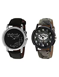 Relish Black Analog Round Casual Wear Watches For Men - B019T7LA30