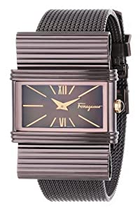 Salvatore Ferragamo Women's F69MBQ6543 S065 Renaissance Brown Ion-Plated Stainless Steel Mother-Of-Pearl Watch from Salvatore Ferragamo