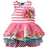Mud Pie Little Girls' Tiered Birthday Party Tutu Dress