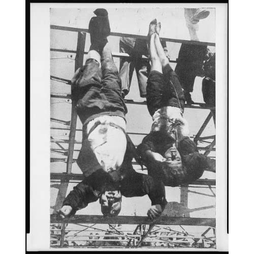Photo: Benito Mussolini,Clara Petacci,hanging by feet,dead,'45