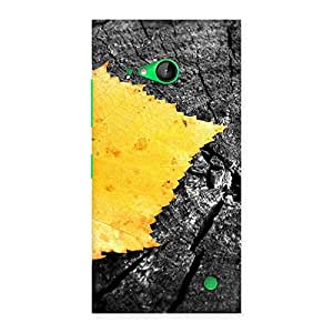 Special Lonely Leaf Multicolor Back Case Cover for Lumia 730