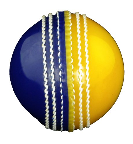 Upfront Opttium INCREDIBALL Training Cricket Ball - Yellow/Blue - ADULT