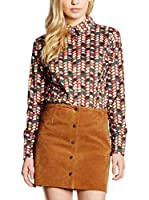 Trakabarraka Camisa Mujer Bucine (Marrón / Multicolor)