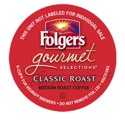 Folgers Gourmet Selections Classic Roast Coffee Keurig K-Cups, 18 Count