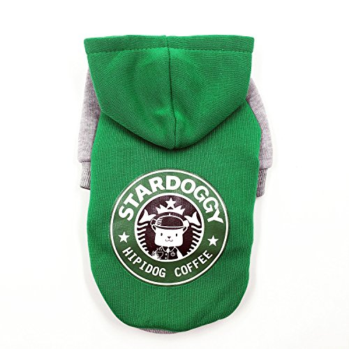 FitPetX Small-size Terriers Lovely Pets Clothes with a Hat Clothes(Green,M) (Yorkie Terrier Clothes compare prices)
