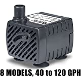 PonicsPump PP040HM: 40 GPH Submersible Pump, Low Voltage - 12VAC with 10W Finger Light, NO TRANSFORMER INCLUDED, Quality Replacement for Homedics PP-PT808L1. Comes with 1 year limited warranty.