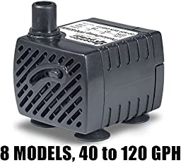 PonicsPump PP040HM: Submersible Pump, 40 GPH with a Six White Light LED Fixture, 120 Volts AC, 5 Foot Cord. Quality Replacement for Homedics PP-PT808L1. Comes with 1 year limited warranty.