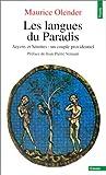 echange, troc Maurice Olender - Les Langues du paradis