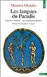 Les Langues du paradis par Olender