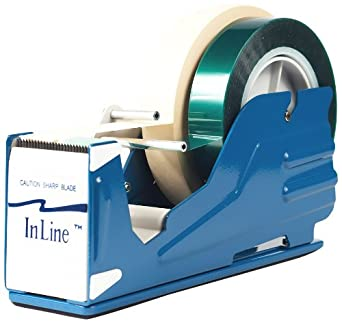 """Bertech Tape Dispenser for 2 One Inch Wide Tapes or One 2"""" Wide Tape"""