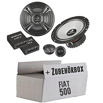 Fiat 500 Front - Helix - B 62C.2 - 16cm 2-Wege Lautsprecher System - Einbauset