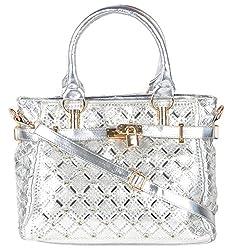 violet Women's Handbag (Silver, CVHS10)