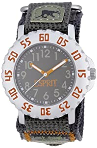 Esprit Safari trip brown - Reloj analógico infantil de cuarzo con correa de resina multicolor
