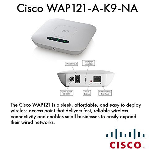 cisco-small-business-1-wap121-a-k9-na-wap121-wl-n-access-point-with-poe-by-cisco