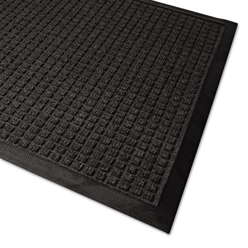 Guardian Products - Guardian - WaterGuard Wiper Scraper Indoor Mat, 36 x 60, Charcoal - Sold As 1 Each - Keeps your office or home clean, dry and safe. - Bi-level constructed so dirt and debris is trapped below the walking surface and off your floors. - The polypropylene carpeted surface makes this a scraper to remove heavy soil and debris and also a wiper to help trap moisture. - The non-slip all-rubber cleated backing provides a secure gripping action to carpets and hard surface floors. -