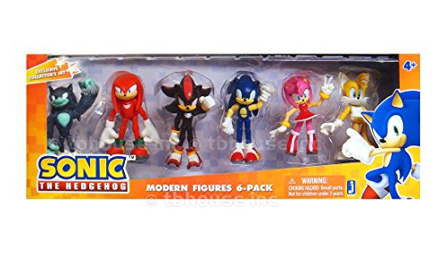 Sonic The Hedgehog Modern Exclusive Action Figure 6 Pack Tails Knuckles Sonic Amy Werehog Review Knowlesppeterhal