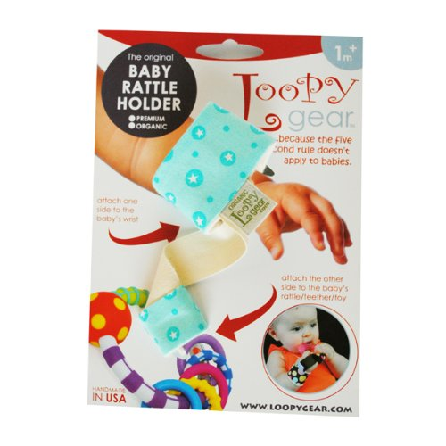 Baby Rattle Holder Bubbly Aqua Loopy