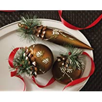 Glass Holiday Rustic Pinecone Christmas Ornaments By Collections Etc