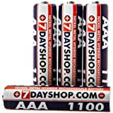 7dayshop Rechargeable High Performance Ni-Mh Batteries - AAA Size 1100mAh - 4 Pack